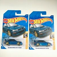 "Hot Wheels SET of 2 Cars '98 SUBARU IMPREZA 22B STi Blue 2019 ""GHB42"" Brand NEW"