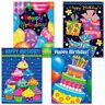 NEW Janet K Skiles Set of 8 Bright Birthday Greeting Cards & Envelopes 4 Designs