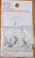 SS Ltd. HO #2474 Wooden Reels Sm, Med, Lg. (2 each)