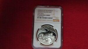 2007 Poland Grey Seals .999 Silver Coin NGC Graded PR PF 68 28 grams