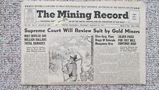 New listing 1957 Mining Record-Grand Junction Colorado Uranium Mill-Colorado Plateau Mining