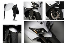 PARAFANGO ANTERIORE YAMAHA T-MAX TMAX 530 2012 > 2014 BCD DESIGN BIANCO NERO