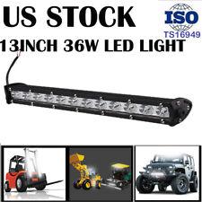 SINGLE ROW SLIM 13INCH LED WORK LIGHT SPOT 36W OFFROAD DRIVING LAMP SUV UTE JEEP