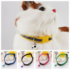 Popular Adjustable Pet Cat Dog Glossy Reflective Collar Safety Buckle Bell Strap