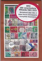 ALLEMAGNE FEDERALE 250 TIMBRES TOUS DIFFERENTS