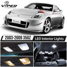 White LED Interior Lights Package Kit for 2003-2009 Nissan 350Z