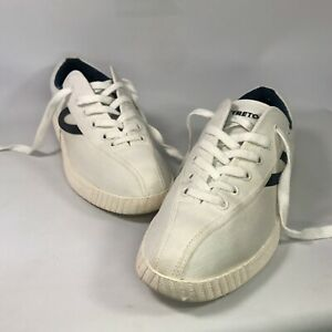 Tretorn Canvas Nylite White/Navy Sneaker Men's Size 10.5