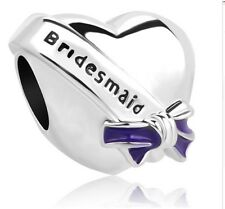 SILVER BRIDESMAID BRIDES MAID CHARM WEDDING GENUINE BARGAIN ltd QUANTITY SALE