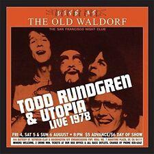 Todd Rundgren & Utopia Live at The Old Waldorf 2lp Gold Vinyl Edition
