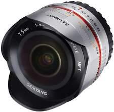 Samyang 7.5mm F3.5 Fisheye UMC II APS-C MFT - Silver Camera Lens