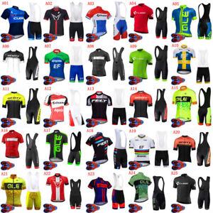 2021 Mens Team Cycling Jersey Bib Shorts Sets Short Sleeve MTB Bicycle Clothing
