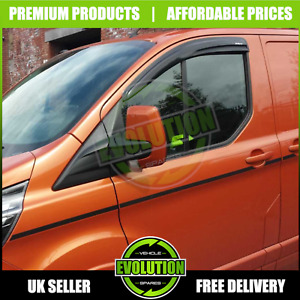 FITS FORD TRANSIT CUSTOM TOURNEO MINIBUS WIND DEFLECTORS RAIN SMOKE 2018+