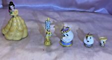 Disney Cake Toppers Figurines PVC Play Set-BEAUTY – 5 pcs. EUC