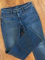 Womens Ann Taylor Loft Bootcut Flare Stretch Denim Trouser Jeans 30 x 32, 8/10