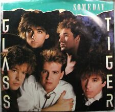 Rock Picture Sleeve Promo 45 Glass Tiger - Someday / Someday On Manhattan