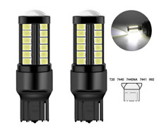 2x Ampoules T20 LED W21W Black 6000K Feu de jour Freins phares de recul 7440