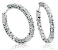 18ct White Gold 2.00ct Diamond Hoop Earrings
