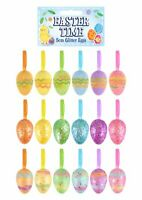 12 Easter Party Decorations Hanging Glitter Sparkling Eggs Gifts Crafts 4cm Hang