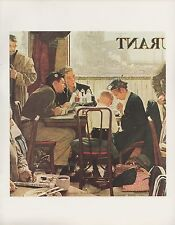 """1977 VINTAGE """"SAYING GRACE"""" by NORMAN ROCKWELL MINI POSTER Color Lithograph"""