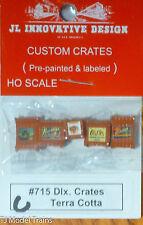 JL Innovative Design #715C Custom Deluxe Crates w/Labels (5) -- Terra Cotta