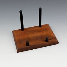 4 INCH EXOTIC  MAHOGANY MINERAL DISPLAY STAND FOR A   MUSEUM QUALITY DISPLAY !!