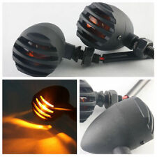 4x Black Motorcycle Amber Turn Signals Light Blinker Indicator CNC Aluminum 10W