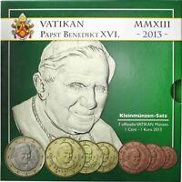 Vatikan Euro KMS 2013 Papst Benedikt Sondersatz im Folder