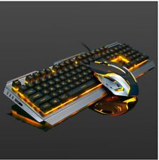 Wired Ergonomic Backlit Mechanical Feel Gaming Keyboard Mouse Set