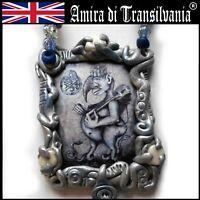 talisman abraxas demon effective power amulets necklace pendant money prosperity