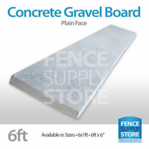 Garden Fencing Concrete Gravel Boards, Rock Face- Plain, 1ft and 6inch Stocked