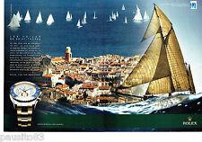 PUBLICITE ADVERTISING 1016  2011  Rolex (2p) Voiles St TROPEZ oyster yacht perpe