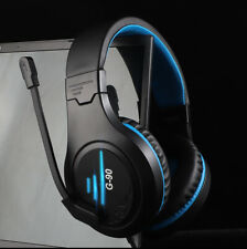 G90 Pro PC PS4 Headset Wired Padded LED Headphones Microphone Mic Volume Control