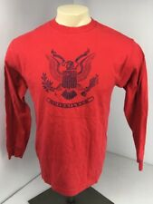 Vtg 90s Quicksilver Boardriding surf Beach Red Long Sleeve shirt M Logo Skate