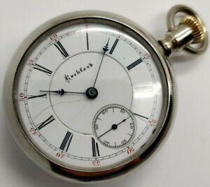 Vintage Rockford Grade 84 15 jewel 18s two tone movement pocket watch Running