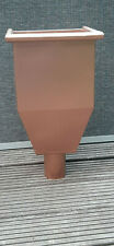 Wasserfangkasten Kupferoptik quadratisch für Fallrohr mit Fallrohranschluß DN120