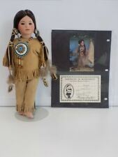 "WENDY LAWTON Porcelain Vintage 1992 Collector Hiawatha 14"" Doll 152 of 500 B3458"