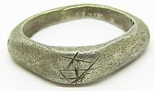 "Ancient Roman Silver Finger Ring ""Fishers of Men"" c. 3rd century A.D."
