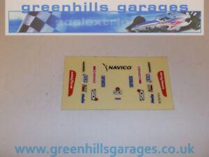 Greenhills Scalextric Team Navico No 28 C613 Original Decals