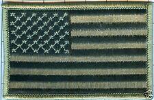 "American Flag Patch - Star Field Left, Foliage 3 1/2"" X 2 1/4"""