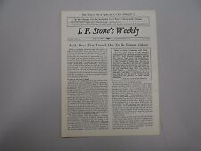 I. F. Stone's Weekly Vol. XV, No. 13 from April 3, 1967! Very rare indie paper!