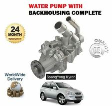 FOR SSANGYONG KYRON 2.0DT REXTON RX270 RODIUS  2004-> WATER PUMP KIT COMPLETE