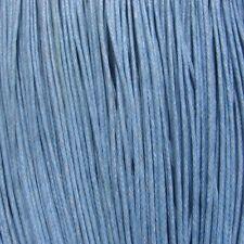 10 mètres fil 1mm coton ciré bleu clair ciel pour bracelet colliers cordon *C54