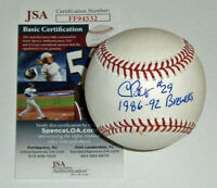 BREWERS Chris Bosio signed baseball w/ 1986-92 Brewers JSA COA AUTO Autographed