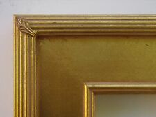Custom Handmade Gold Whistler Wide Flat Panel Ribbed Frame Any Size Up To 24x30