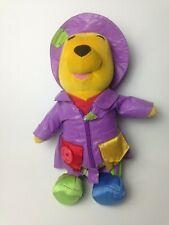 Winnie The Pooh Bear Plush Toy 13.75 Inch Fisher Price Disney Raincoat Talking
