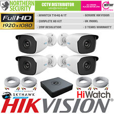 HiWatch 4 Camera 2MP 1080P HD Home CCTV Complete Security System Kit Bundle P2P