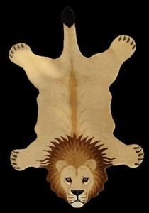 Larry Lion rug 5'0''x8'0'' ft Handmade Tufted 100% woollen Area Rugs