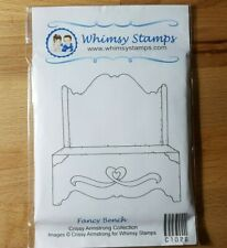 Whimsy Stamps - Crissy Armstrong Fancy Bench rubber stamp scene
