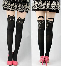 Collants chats noir et chair harajuku kawaii ORIGINAUX