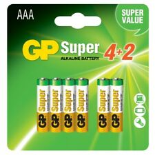GP BATTERIES IC-GP151231 BLISTER 6 BATTERIE AAA MINI STILO GP SUPER